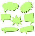 set of light green speech bubbles vector image vector image