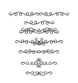set of vintage ornaments in Victorian style vector image vector image