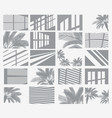 set transparent shadow overlay effects window vector image vector image
