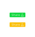 share buttons for web and apps flat design vector image