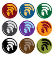 shields with spartan head design template head vector image