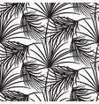 silhouette black palm leaves seamless vector image