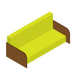 sofa of lemon color isometric vector image