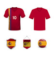 spain football uniform vector image vector image