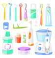 toothbrush dental hygiene tooth brush for vector image