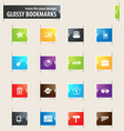 travel bookmark icons vector image vector image
