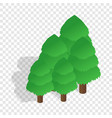 trees isometric icon vector image vector image