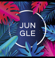 trendy jungle banner paper cut tropical palm vector image