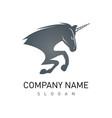 unicorn logo vector image