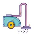 vacuum cleanner machine electric equipment vector image