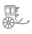 vintage carriage iconoutline line vector image vector image