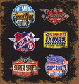 Vintage Motor Oil Signs and Label Set vector image vector image