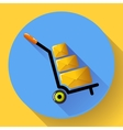 Warehouse Trolley flat 20 long shadow icon vector image vector image