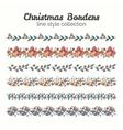 Christmas Borders Set of Christmas Seamless vector image