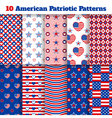 Set of American seamless patterns vector image
