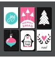 Christmas Greeting Card Collection vector image