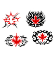 Maple leaf mascots and symbols vector image