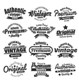 12 Vintage Insignias Or Labels vector image vector image