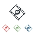 3D film grunge icon set vector image vector image