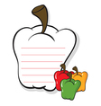 A bell pepper shaped stationery vector image vector image