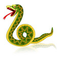 a bright snake with reflection cartoon style vector image vector image