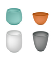 A Set of Japanese Yunomi Tea Cup vector image