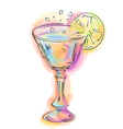 abstract cocktail and lemon vector image vector image