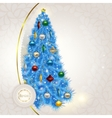 Abstract lace background with elegant Christmas vector image vector image