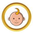 Baby face icon cartoon style vector image vector image