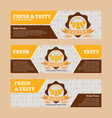 bakery banner design template vector image vector image