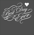 BEST DAY EVER decorative typography vector image vector image