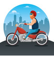 biker culture biker men riding motorbikes vector image vector image