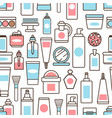 bottles and jars with creams and lotions pattern vector image vector image