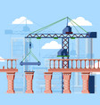 bridge construction construction vector image
