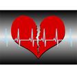 broken heart cardiogram blue vector image vector image