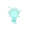 bulb light icon design vector image