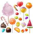 candy sweet food dessert lollipop or vector image vector image