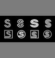 capital letter s modern set for monograms logos vector image