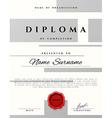 Certificate design Premium present certificate vector image vector image