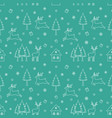 christmas seamless pattern on green background vector image