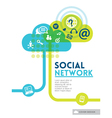 Cloud Social Media Network concept background vector image