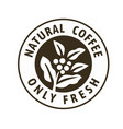 coffee stamp with text and coffee branch vector image vector image