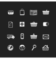 Collection of e-commerce interface pictograms vector image