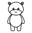 cute and tender hippopotamus character vector image