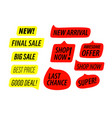 different sale labels clip-art isolated on white vector image