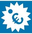 Euro Price Tag Icon vector image vector image