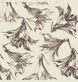 floral pattern graphic lilies vector image vector image