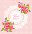 Flower card in retro style vector image