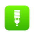 fluorescent bulb icon digital green vector image