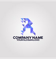geometry polygon triangle logo letter r 03 vector image vector image
